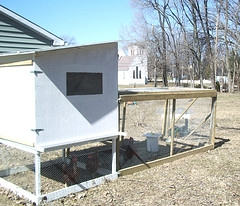 chicken coop with wheels